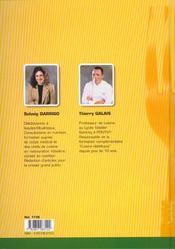 Cuisine et dietétique - 4ème de couverture - Format classique