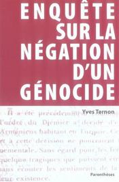 Enquete Sur Negation D'Un Genocide - Intérieur - Format classique