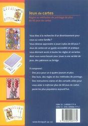 Jeux de cartes - 4ème de couverture - Format classique