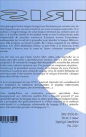La langue en mouvements ; méthode de sensibilisation à la phonologie du francais - 4ème de couverture - Format classique