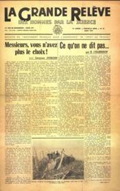 Grande Releve (La) N°23 du 01/08/1947 - Couverture - Format classique