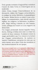 Jules Verne aujourd'hui - 4ème de couverture - Format classique