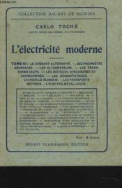 Electricite Moderne - Couverture - Format classique