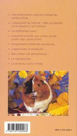 Le cochon d'inde - 4ème de couverture - Format classique