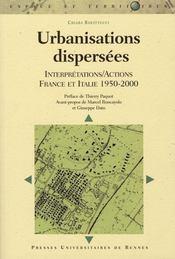 Urbanisations dispersées. interpretattions/actions france italie, 1950-2000) - Intérieur - Format classique