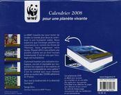 Calendrier WWF pour une planète vivante (édition 2008) - 4ème de couverture - Format classique