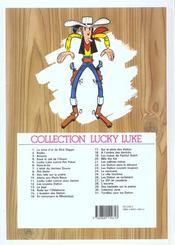 Lucky Luke t.21 ; les collines noires - 4ème de couverture - Format classique