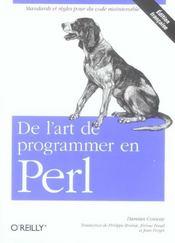 De L'Art De Programmer En Perl - Intérieur - Format classique
