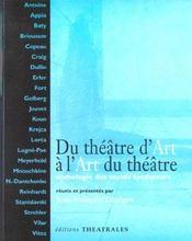 Du Theatre D Art A L Art Du Theatre - Intérieur - Format classique