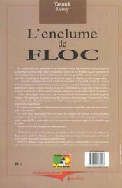 Enclume De Floc (L') - 4ème de couverture - Format classique