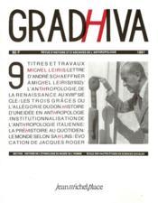 Cahier De Gradhiva N.9 - Couverture - Format classique