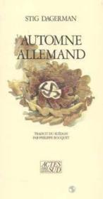 Automne Allemand - Couverture - Format classique