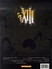 XIII T.12 ; le jugement - 4ème de couverture - Format classique