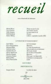 Recueil 27 - Couverture - Format classique