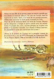 Alima Et Le Prince De L'Ocean - 4ème de couverture - Format classique