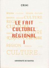Le fait culturel régional - Intérieur - Format classique