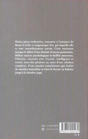 La Geometrie Insensee De L'Amour - 4ème de couverture - Format classique
