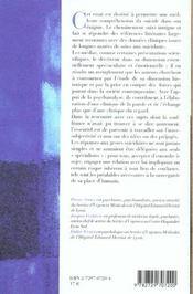 Les Gestes Ultimes ; Essai Sur L'Enigme Du Sucide - 4ème de couverture - Format classique