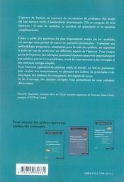 L'épreuve écrite de français - 4ème de couverture - Format classique