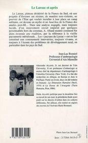 Le Larzac Et Apres ; L'Etude D'Un Mouvement Social Novateur - 4ème de couverture - Format classique