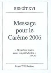 Message Pour Le Careme 2006 - Couverture - Format classique