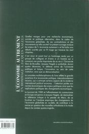 L'économie autrement ; en hommage a jacques nagels - 4ème de couverture - Format classique