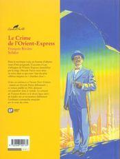Le crime de l'orient express - 4ème de couverture - Format classique