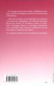 Cours Superieur D'Astrologie - Techniques Previsionnelles - 4ème de couverture - Format classique