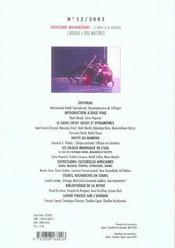 Revue Horizons Maghrebins N.53 ; L'Afrique A Voix Multiples ; Les Enjeux Mondiaux De L'Eau - 4ème de couverture - Format classique