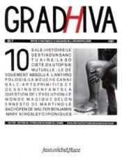 Cahier De Gradhiva N.10 - Couverture - Format classique