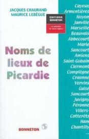 Noms de lieux picardie - Couverture - Format classique
