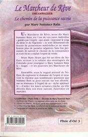 Le Marcheur De Reve - T. 3 - 4ème de couverture - Format classique