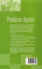 Problèmes digestifs - 4ème de couverture - Format classique