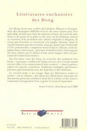 Littératures Enchantées Des Dong. Récits De Zhang Zezhong, Pan Nianying - 4ème de couverture - Format classique