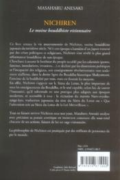 Nichiren, le Moine bouddhiste visionnaire - 4ème de couverture - Format classique