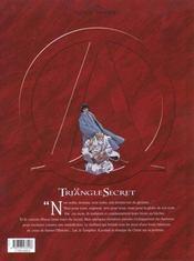 Le triangle secret t.3 ; de cendre et d'or - 4ème de couverture - Format classique
