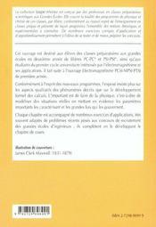Electromagnetisme 2e Annee Pc-Pc*-Psi-Psi* Cours Et Exercices Corriges - 4ème de couverture - Format classique