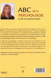 ABC de la psychologie et de la psychanalyse - 4ème de couverture - Format classique