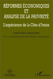 Reformes Economiques Et Analyse De La Pauvrete - Couverture - Format classique