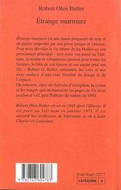 Etrange Murmure - 4ème de couverture - Format classique