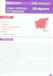 Asie Centrale Et Orientale - Intérieur - Format classique