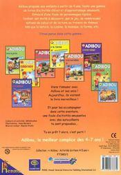 Le Livre Merveilleux Adibou Activites Ecriture 4-5 Ans - 4ème de couverture - Format classique