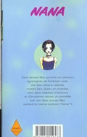 Nana t.1 - 4ème de couverture - Format classique