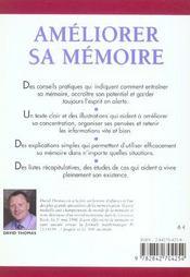 Améliorer sa mémoire - 4ème de couverture - Format classique