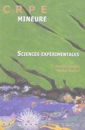 Sciences Experimentales ; Crpe Mineure - Intérieur - Format classique