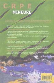 Sciences Experimentales ; Crpe Mineure - 4ème de couverture - Format classique