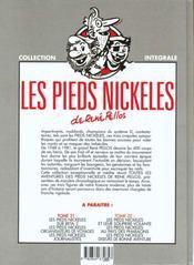 Les pieds nickelés ; intégrale t.20 - 4ème de couverture - Format classique