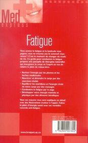 Fatigue - 4ème de couverture - Format classique