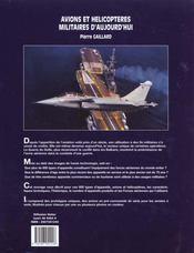 Les avions et les helicopteres militaires d'aujourd'hui - 4ème de couverture - Format classique