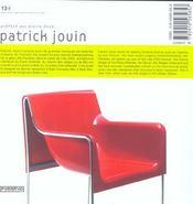 Patrick Jouin - 4ème de couverture - Format classique